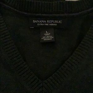Banana Republic Sweaters - Banana Republic Men's v-neck Marino wool sweater